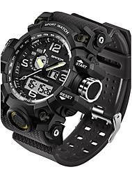 Недорогие -SANDA Муж. Спортивные часы Смарт Часы Наручные часы Японский Цифровой силиконовый Черный / Белый / Коричневый 30 m Защита от влаги LED С двумя часовыми поясами Аналого-цифровые Мода - / Два года