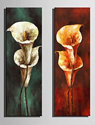 cheap -Print Stretched Canvas Prints - Floral / Botanical Retro Art Prints