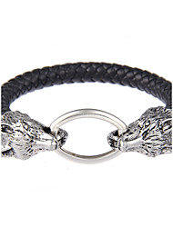 cheap -Bracelet Bangles Leather Bracelet woven Ladies Natural Punk Gothic Hip-Hop Leather Bracelet Jewelry Black For Wedding Party Quinceañera & Sweet Sixteen Holiday Tea Party Dress Business Attire