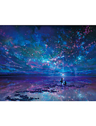 cheap -1000 pcs Galaxy Starry Sky Jigsaw Puzzle Adult Puzzle Jumbo Wooden Adults' Children's Toy Gift
