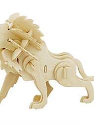 cheap -Robotime 3D Puzzle Jigsaw Puzzle Model Building Kit Lion DIY Wooden Natural Wood Kid's Unisex Toy Gift