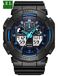 cheap -Men's Sport Watch Military Watch Smartwatch Quartz Digital Charm Water Resistant / Waterproof Analog - Digital Blue Green Gray / Silicone / Two Years / Alarm / Calendar / date / day / LED