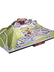 cheap -3D Puzzle Paper Model Model Building Kit Famous buildings Chinese Architecture DIY Hard Card Paper Classic Chinese Style Kid's Unisex Boys' Toy Gift