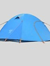 cheap -4 person Tent Outdoor Waterproof Rain Waterproof Quick Dry Double Layered Camping Tent 2000-3000 mm for Camping / Hiking Terylene Aluminium