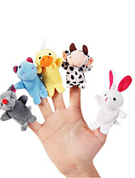 cheap -10pcs Set Cartoon Animal Plush Finger Puppets Kids Talk Prop Children Forest Favor Dolls