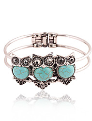 cheap -Women's Bracelet Bangles Cuff Bracelet Owl Bohemian Fashion Resin Bracelet Jewelry Blue / Pink / Turquoise For Party Special Occasion Birthday Party / Evening Event / Party Dailywear / Gift