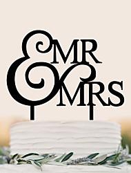 cheap -Cake Topper Birthday Wedding High Quality Plastic Wedding Birthday with 1 PVC Bag