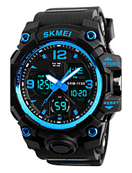 cheap -SKMEI Men's Sport Watch Military Watch Wrist Watch Japanese Quartz Quilted PU Leather Black 50 m Water Resistant / Waterproof Alarm Calendar / date / day Analog - Digital Fashion - Red Blue Golden