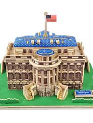 cheap -3D Puzzle Jigsaw Puzzle Model Building Kit Famous buildings House DIY Wooden Classic Kid's Unisex Toy Gift