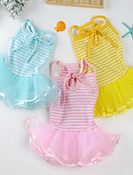 cheap -Dog Dress Dog Clothes Yellow Blue Pink Costume Baby Small Dog Cotton Princess Party Birthday Casual / Daily S M L XL