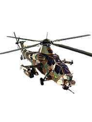 cheap -3D Puzzle Paper Model Model Building Kit Helicopter DIY Hard Card Paper Classic Helicopter Kid's Unisex Boys' Toy Gift