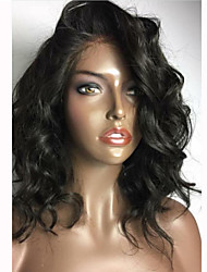 cheap -Human Hair Glueless Lace Front Lace Front Wig style Brazilian Hair Body Wave Wig 150% Density with Baby Hair Natural Hairline African American Wig 100% Hand Tied Women's Short Medium Length Long