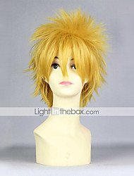 cheap -Naruto Cosplay Cosplay Wigs Men's 14 inch Heat Resistant Fiber Yellow Anime