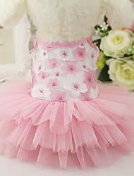 cheap -Dog Dress Princess Casual / Daily Dog Clothes Purple Pink Costume Chiffon Cotton