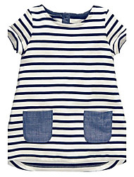 cheap -Toddler Girls' Stripes Striped Sleeveless Dress White