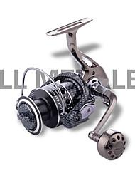 abordables -Reel Fishing Roulement Moulinet spinnerbait 5.2:1 Braquet+13 Roulements à billes Orientation à la main Echangeable Pêche d'eau douce / Pêche au leurre / Pêche générale - DE4000
