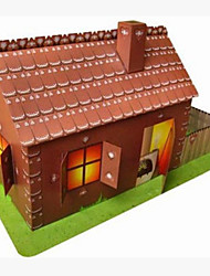 cheap -3D Puzzle Paper Craft House DIY Hard Card Paper Cartoon Kid's Unisex Toy Gift