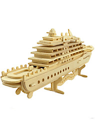 cheap -3D Puzzle Jigsaw Puzzle Model Building Kit Ship DIY Simulation Wooden Classic Kid's Adults' Unisex Boys' Girls' Toy Gift / Wooden Model