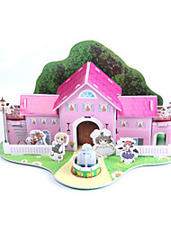 cheap -3D Puzzle Jigsaw Puzzle Paper Model House DIY High Quality Paper Classic Kid's Unisex Boys' Girls' Toy Gift