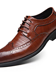 cheap -Men's Brogue Leather Fall / Winter Formal Shoes Oxfords Black / Light Brown / Party & Evening / Party & Evening