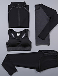 cheap -Women's Spandex Workout Set Activewear Set Yoga Suit Yoga Running Exercise & Fitness Cycling Camping & Hiking Fitness, Running & Yoga Sportswear Tracksuit Underwear Compression Clothing Long Sleeve
