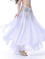 cheap -Belly Dance Women's Performance Chiffon Sequin High Skirts