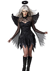 cheap -Angel / Devil Cosplay Cosplay Costume Party Costume Masquerade Women's Halloween Carnival Festival / Holiday Elastane Tactel Black Women's Carnival Costumes Other Vintage / Wings / Headwear