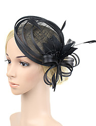 cheap -Plastic Fascinators / Flowers with 1 Wedding / Special Occasion / Party / Evening Headpiece