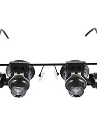 cheap -Glasses Type 20X Magnifier With White Led Light Black 15Mm Double Mirror