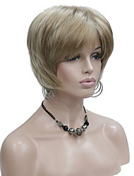 cheap -Synthetic Wig Straight Straight Layered Haircut Wig Blonde Short Blonde Synthetic Hair Women's Blonde StrongBeauty