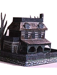 cheap -3D Puzzle Paper Model Model Building Kit Famous buildings Ghost DIY Hard Card Paper Classic Kid's Unisex Boys' Toy Gift