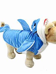 cheap -Dog Costume Winter Dog Clothes Blue Costume Plush Fabric Cartoon Halloween XXL XXXL XXXXL XXXXXL