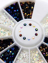cheap -1800 pcs 2mm preto ab strass flatback nail art strass encantos das unhas nail art decorations