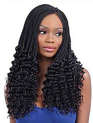 Недорогие -Волосы для кос Кудрявый Вязаные Спиральные плетенки Накладки из натуральных волос 100% волосы канекалона Kanekalon 30 корней / пакет 34 Корни косы волос Омбре Повседневные