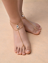 cheap -Barefoot Sandals Bohemian Fashion Women's Body Jewelry For Dailywear Casual Synthetic Gemstones Rhinestone Drop Gold Silver