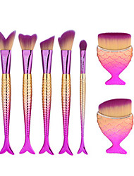 cheap -7pcs-pink-fish-shape-makeup-fan-brush-professional-mermaid-soft-eye-cosmetics-beauty-make-up-brushes-set-kabuki-kit-maquiagem