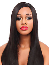 cheap -Remy Human Hair Glueless Lace Front Lace Front Wig style Brazilian Hair Straight Yaki Wig 130% 150% Density with Baby Hair Natural Hairline African American Wig 100% Hand Tied Women's Short Medium