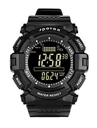 Недорогие -Муж. Модные часы Смарт Часы Цифровой Pезина Черный 30 m Защита от влаги Цифровой Белый Черный