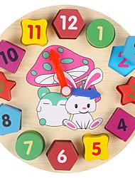 Недорогие -Деревянные часы Игрушки для обучения математике Круглый Часы Образование Детские Игрушки Подарок