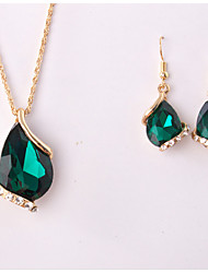 cheap -Women's Jewelry Set Pendant Drop Earrings Jewelry White / Green / Blue For Wedding Party Special Occasion Anniversary Birthday