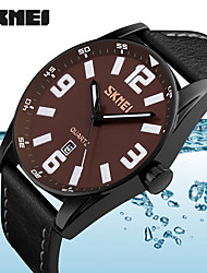 cheap -Men's Sport Watch Military Watch Smartwatch Quartz Digital Genuine Leather Multi-Colored 50 m Calendar / date / day Creative Cool Analog Ladies Charm Classic Casual Fashion - Yellow Coffee Red