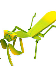 cheap -3D Puzzle Paper Model Model Building Kit Insect Mantis DIY Simulation Classic Kid's Unisex Toy Gift