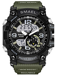 cheap -SMAEL Men's Sport Watch Fashion Watch Military Watch Digital Casual Water Resistant / Waterproof Analog - Digital Black / Gold Black / Blue Black / Silver / Quilted PU Leather / Silicone / Japanese