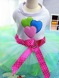 cheap -Cat Dog Dress Tuxedo Dog Clothes Blue Pink Costume Chiffon Cotton Bowknot Party Casual / Daily Wedding XS S M L XL XXL