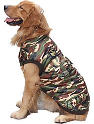 cheap -Dog Vest Winter Dog Clothes Camouflage Color Costume Cotton Police / Military Casual / Daily L XL XXL XXXL XXXXL