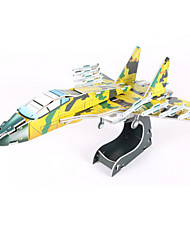 cheap -3D Puzzle Model Building Kit Plane / Aircraft Fighter Aircraft DIY High Quality Paper Classic Kid's Unisex Boys' Girls' Toy Gift