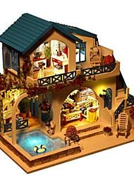 abordables -Kit de Maquette A Faire Soi-Même Meuble Maison En bois Bois Naturel Classique Unisexe Fille Jouet Cadeau