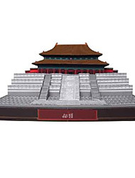 cheap -3D Puzzle Paper Model Famous buildings Chinese Architecture Forbidden City DIY Hard Card Paper Chinese Style Kid's Unisex Toy Gift