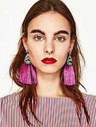 cheap -Women's Drop Earrings fan earrings Hanging Earrings Chandelier Teardrop Ladies Bohemian Fashion Euramerican Earrings Jewelry Fuchsia / Red / Blue For Party