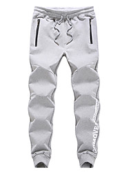 cheap -Men's Track Pants Sports Pants Sweatpants Athletic Pants / Trousers Athleisure Wear Bottoms Cotton Exercise & Fitness Running Casual / Daily Sport Black Light Grey Dark Blue Simple